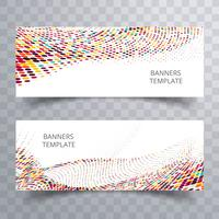 Abstract colorful dotted banner set design vector