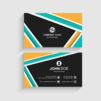 Modern colorful business card template design illustration