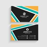 Moderne bunte Visitenkarteschablonen-Designillustration