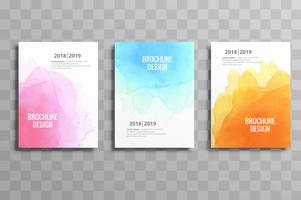 Abstract colorful soft watercolor business brochure template des