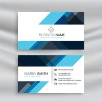 clean abstract blue business card design