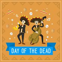 Flat Day of the Dead Vector Illustration