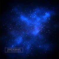 Blue shiny galaxy background