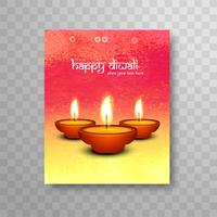 Modern colorful diwali brochure background
