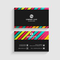 Moderne kleurrijke visitekaartje sjabloonontwerp