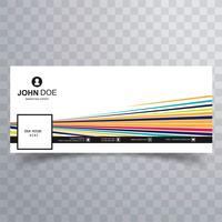 Vacker färgrik linje facebook tidslinjemall design