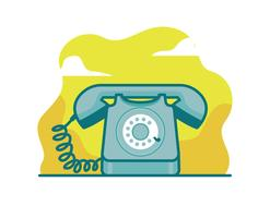 Rotary Telefon Vektor