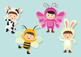 Kids In Costume Vector
