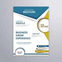 Modern business brochure template design illustration