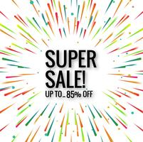 Modern super sale colorful background vector
