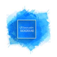 Beautiful blue watercolor background vector