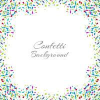 Cadre de confettis coloré abstrait isolé sur fond blanc