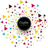 Beautiful colorful confetti background vector