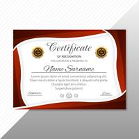 Beautiful certificate diploma template with wave illustration ve