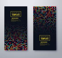 Modern colorful dotted banners set design