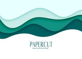 fundo papercut em estilo ondulado