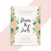 flower concept wedding invitation card design
