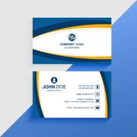 Abstract Visiting card colorful business card template design