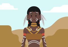 Indigenous People Vector Illustration