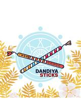 Dandiya Sticks Vector