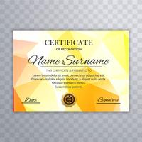 Abstract colorful polygon certificate template design