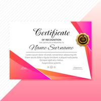 Certificate colorful template colorful wave design