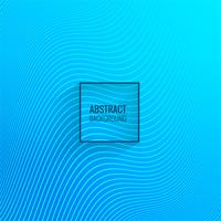 Abstract blue line wave background vector
