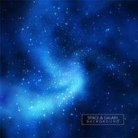Universe shiny blue galaxy background illustration