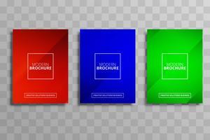 Elegant business brochure colorful template set design