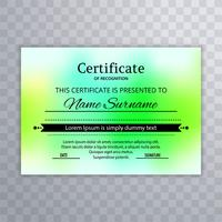 Elegant colorful certificate template background vector