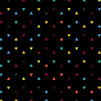 Abstract colorful triangles black background illustration