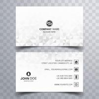 Abstract geometric business card set vector design