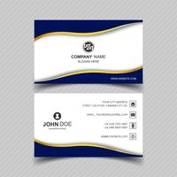 Abstract wavy creative business card template design