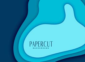 blue abstract papercut background design