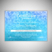 Certificate of Appreciation template geometric design