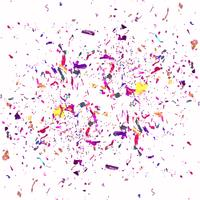 Modern colorful confetti background
