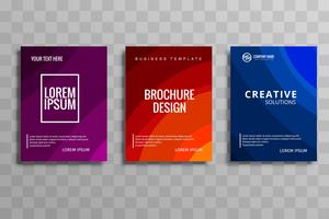 Abstract colorful business brochure template set design