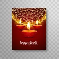 Conception de brochures moderne belle coloré Diwali