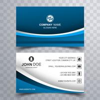 Abstract stylish business card template design with wave vector