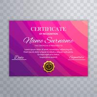 Beautiful certificate diploma colorful template vector