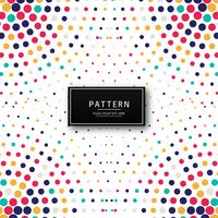 Abstract colorful dots pattern illustration background
