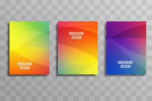 Abstract colroful business brochure set template vector