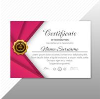 Abstract stylish certificate template wave background