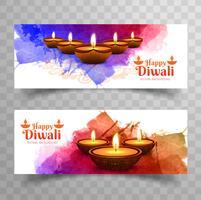 Modern diwali banners