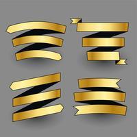 conjunto de fitas douradas brilhantes premium