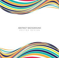 Abstrtact colorful creative stylish wave design vector