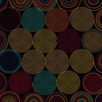 Abstract colorful circular lines pattern