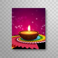 Modern colorful diwali bright brochure vector