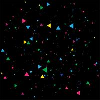 Abstract colorful confetti celebration on a black background