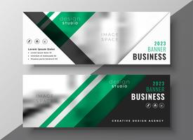professional green geometric business banner template